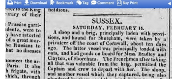1807 16th February Hampshire Telegraph 2