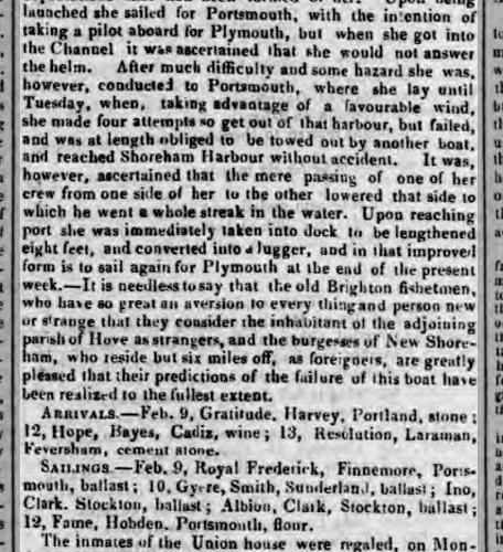 1840d 17th April Sussex Advertiser