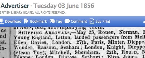 1856fd Newhaven Arrivals Adur Steam tug from Shoreham