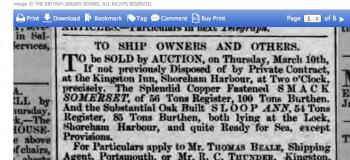 1859c 5th March Hampshire Telegraph