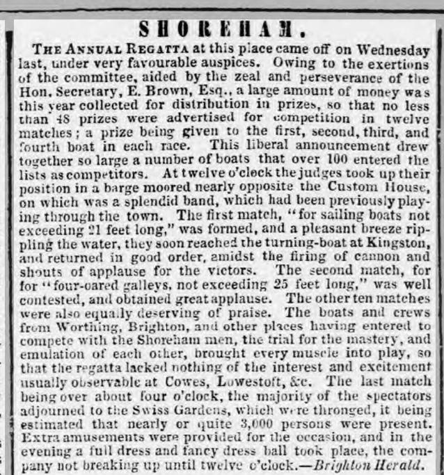 1855hb 21st August SA First Regatta