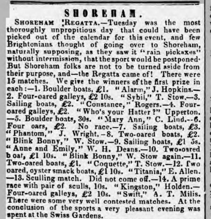 1857ie 15th September SA Regatta