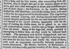 1826c 3rd April Caledonian Mercury Stag Hunt