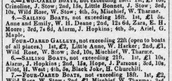 1859hf 23rd August 3rd Regatta