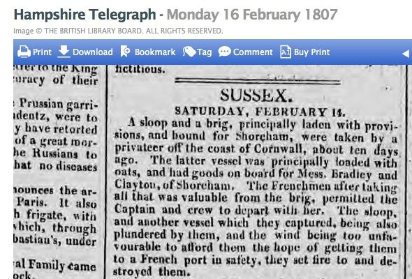 1807a 16th February Hampshire Telegraph