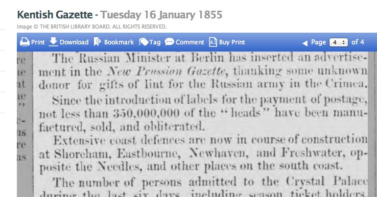 1855ab 16th January Kentish Gazette