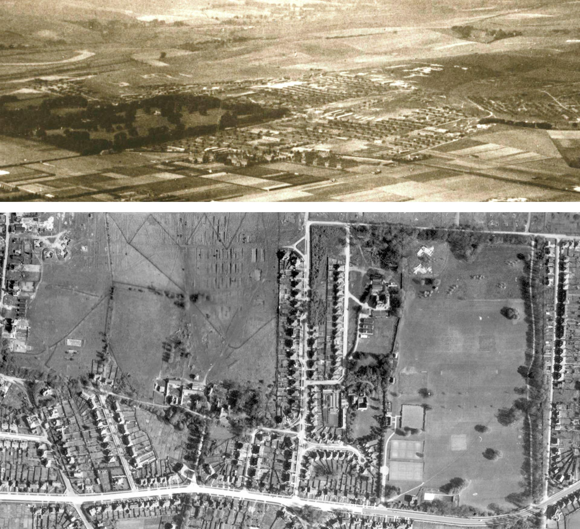 AC7 Camp Aerial 1914 or 1918 circa & 1946