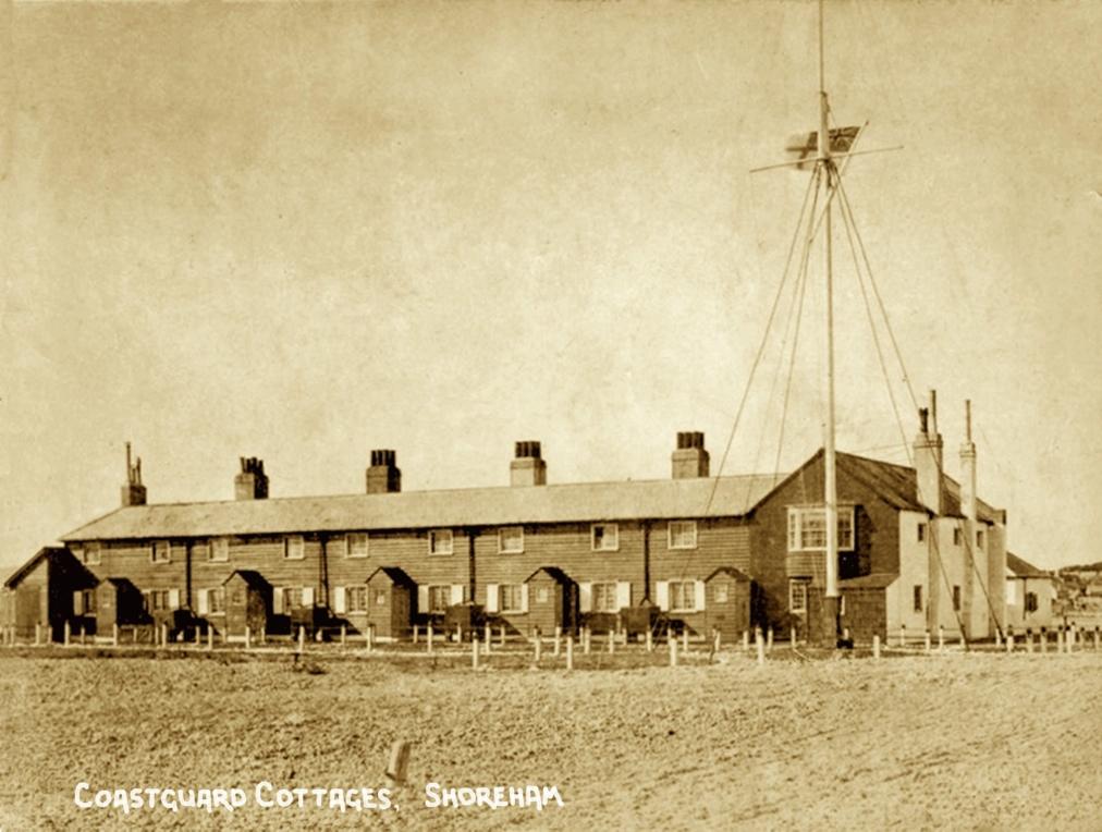 Description: Coastguard Cottages, circa 1890 copy2