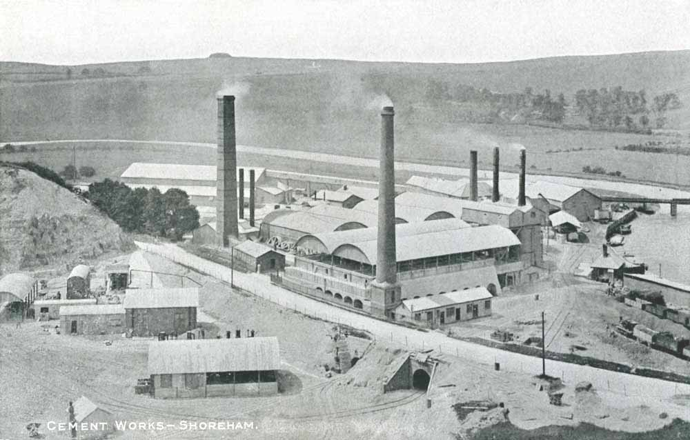 The works looking west in 1902