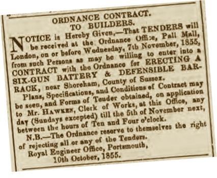 F1 1b Hampshire Telegraph 13th October 1855 SBS size 400