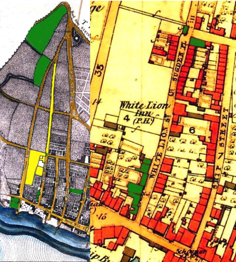 Map 1780's & 1870's