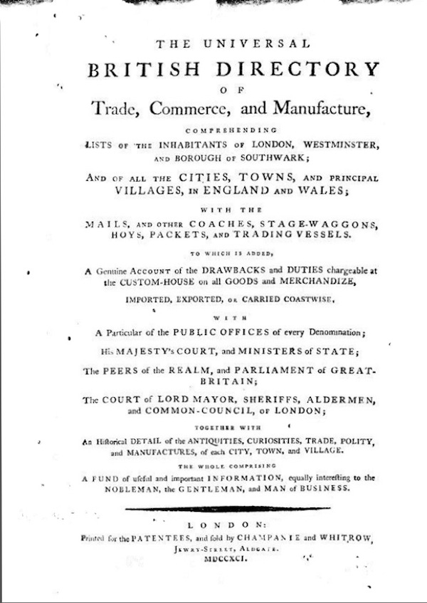 Universal Directory 1791