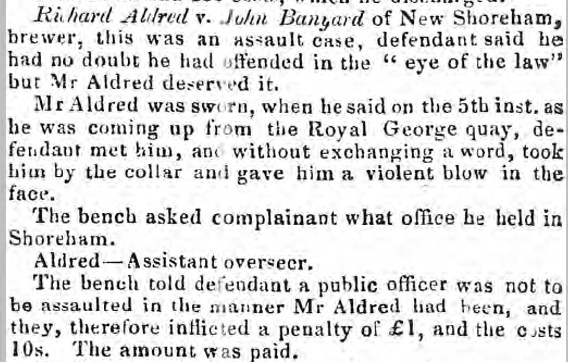 Sussex Advertiser 31st October 1848